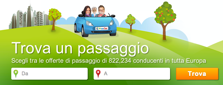 A snapshot of the BlaBlaCar website