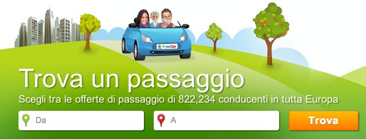 A snapshot of the BlaBlaCar website