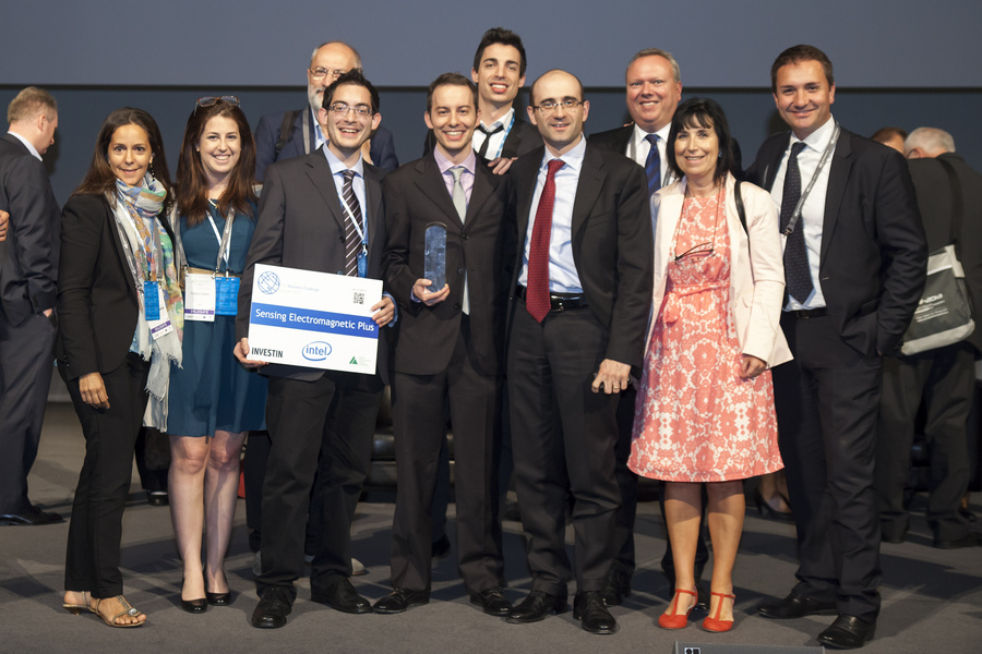 Alberto with the Intel Team and the winners of IBC