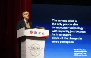 Prof Massimo Bergamasco during his Speech