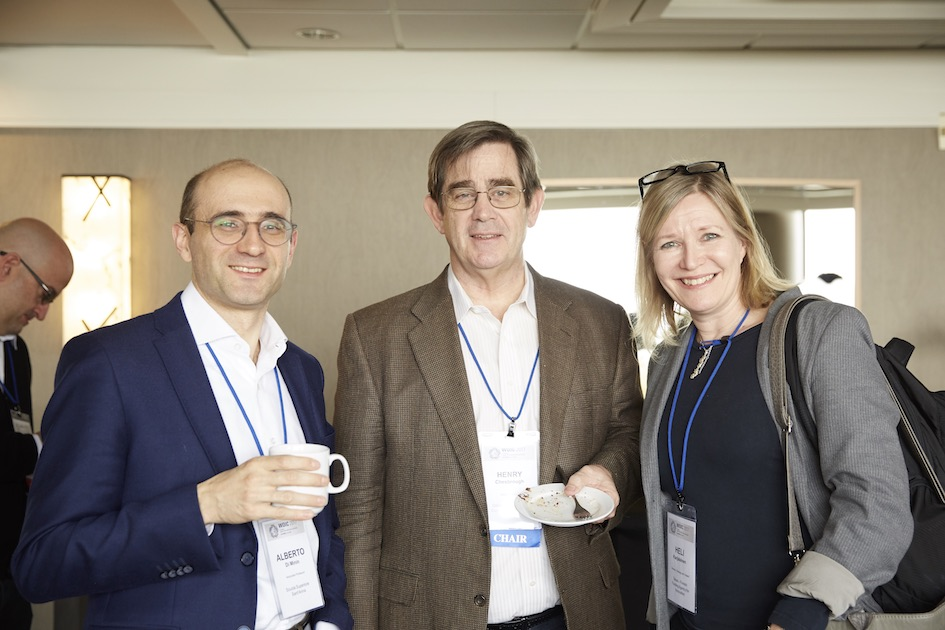 Henry Chesbrough with Alberto and Karjalainen Heli (Tekes), one of the components of the policy delegations